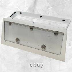 Sea Pro Boat Locking Storage Display Box White Starboard 32 x 12 Inch
