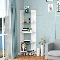 Set of 2 Bookcase Storage 5-Tier Open Shelf Display Room Divider for Home Office