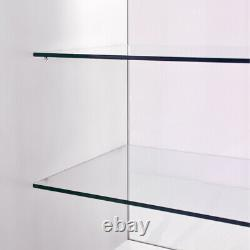 Shop Counter Brilliant White Retail Display Storage Cabinets Glass Shelves