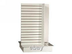 Slatwall unit 4 Way white Knock down Display Store Fixture #SC-4-Wing/W