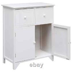 Small Side Cabinet Retro Display Unit Modern Storage Furniture Doors Cupboard