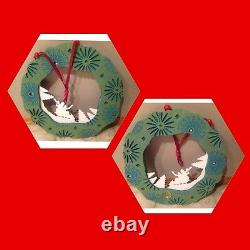 Starbucks Holiday Wreath Christmas 2006 Green White Red Store DisplayAuthentic