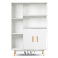 Storage Wood Display Bookcase Bookshelf Cabinet Cupboard TV Stand Room Shelf