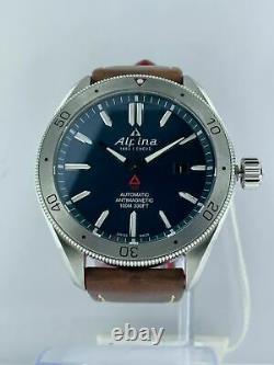 Store Display Alpina Alpiner 4 Blue Men's Automatic Watch AL525NS5AQ6 MSRP $1395