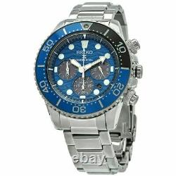 Store Display Seiko Men's Prospex Chronograph Quartz Blue Dial Watch SSC741P1