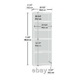 Tall Bookcase 5-Shelf Display Storage Rack Stand Furniture Modern Elegant Wood