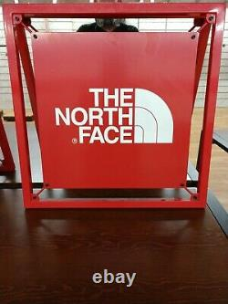 The North Face Classic Red Metal LOGO Store Sign Display 24 x 24 x 1 NICE