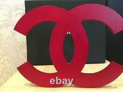Two Very Rare Chanel Store Display Factice 5 + Logo CC (red Color Acrylic)