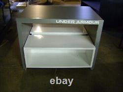 Under Armour Nesting Table Style Grey & White Display Store Fixtures Set 2