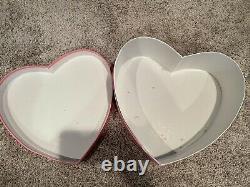 Victoria's Secret VS Pink Monogram Hat Box Store Display Heart Box Rare HTF