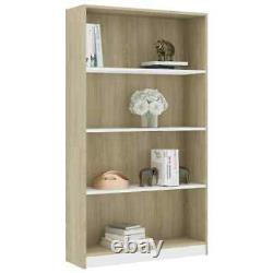 VidaXL Book Shelf Rack Storage Organizer Cabinet Bookcase Display Wood Bookshelf