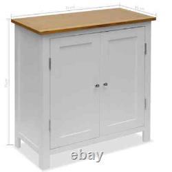 VidaXL Solid Oak Wood Cupboard 27.6 Sideboard Side Cabinet Storage Display