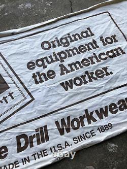Vintage 70s Carhartt Workwear Sign Canvas Banner Store Display Denim 4ft X 2ft
