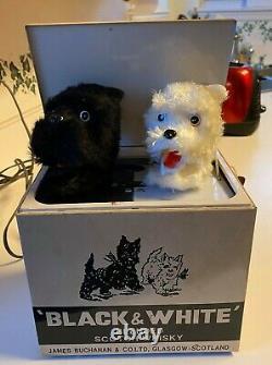 Vintage Black & White Scotch Whiskey Barking Dogs Electronic Store Display