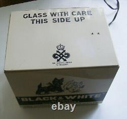 Vintage Black & White Scotch Whiskey Barking Dogs Metal Case Store Display