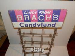 Vintage Candy From Brachs Candyland Store Display Rack Advertising