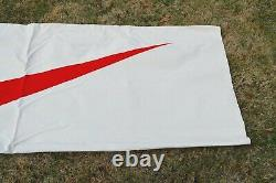 Vintage Double Sided 1990's Nike Canvas Store Display Sign Large 84x28 Rare OG