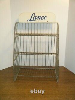 Vintage Lance Crackers / Cookies store Countertop metal display