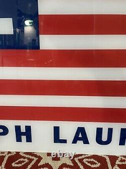 Vintage Polo Jeans Ralph Lauren STORE DISPLAY SIGN Plexiglass 40x50 RARE 20lbs