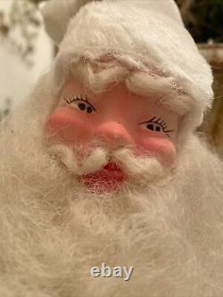Vintage White Velvet Harold Gale Santa Claus Store Display 15 Minty
