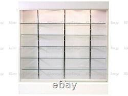 Wall White Display Show Case Retail Store Fixture WithLights Knocked Down#SC-WC6WX