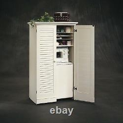 White Antique Craft Table Cabinet Armoire Storage Furniture Folding Sewing Desk