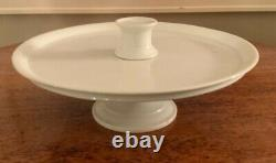 White Ironstone Pedestal Stand for Confections Store Display from France