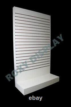 White Tower Slatwall Unit Knock down Display Store Fixture #SC-SWL-W