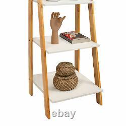 Wooden 5 Tier Bookcase Bookshelf Solid Wood Display Open Storage Shelves Modern