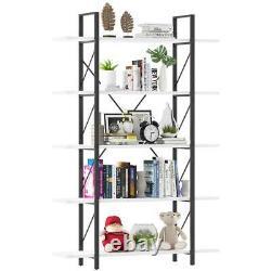 YITAHOME 5 Tier Bookshelf Ladder Bookcase Display Storage Organizer Furniture