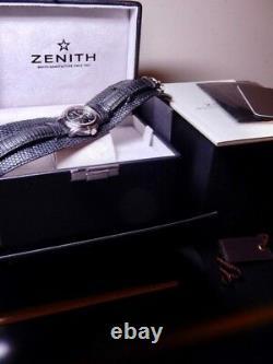 Zenith Elite Baby Star Black Lizard 100% NOS ref. 03.1220.67 Store Display