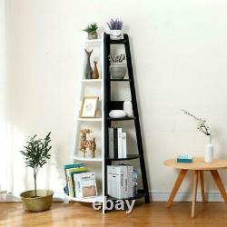 10% Off Ladder Corner Bookcase Shelving Rack Display Organisateur Stockage H413-5