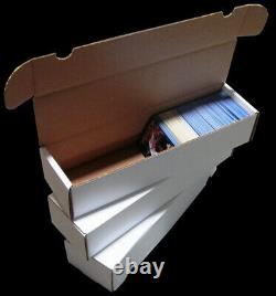(100) 800 Count Cardboard Storage Box Baseball Trading Card Display Porte-cartes