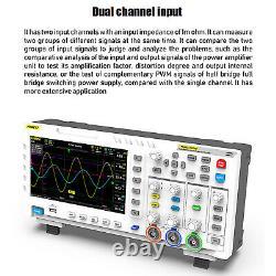 1014d 7 2channel Tablet Oscilloscope Stockage Numérique Affichage LCD Blanc