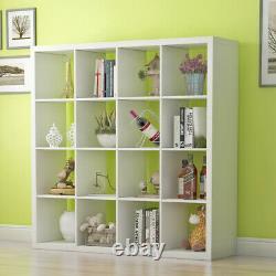 16 Cubes Unit Stand Display Bookcase Storage Bookshelf Organisateur White/black Uk