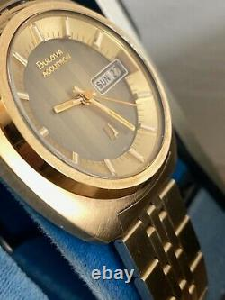 1974 Bulova Accutron Day Date 2182 Tuning Fork Lnib (store Display) Ensemble Complet