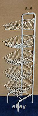 5 Niveaux Blanc Empilement Paniers Dump Bin Display Home Shop Stockage Nouveau