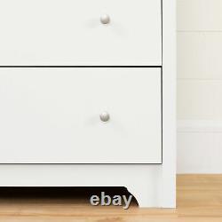 6-drawer Double Dresser Modern Bedroom Vêtements Organisateur Display Storage Blanc