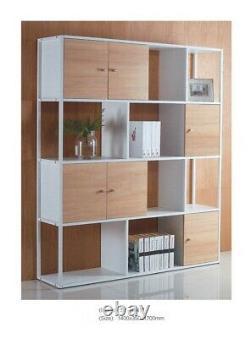 8 Cube Bibliothèque Étagère En Bois D'affichage Étagère De Rangement Intérieur Chêne Clair