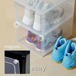 8x Magnetic Drop Side/front Stackable Shoe Box Storage Sneaker Display Container 8x Magnetic Drop Side/front Stackable Shoe Box Storage Sneaker Display Container 8x Magnetic Drop Side/front Stackable Shoe Box Storage Sneaker Display Container 8