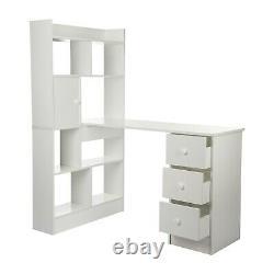 Accueil Bureau D'ordinateur Table Cube Unité De Rangement Display Étagères Bibliothèque Avec 4 Tiroirs