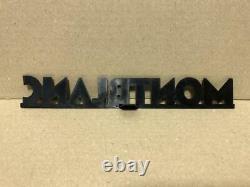 Affichage De Logo De Mont Blanc 215 Millimètres Pour Le Magasin 1960s Antique De Panneau Publicitaire