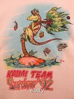 Affichage En Magasin Gratuit + Jurassic Park Vintage Unworn 1992 Film Crew XL Shirt