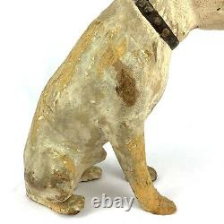 Antique Nipper Dog Rca Paper Mache Store Display Old King Cole Début Des Années 1900 14