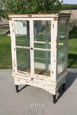 Antiquité Apothicary Cabinet Bakers Cabinet Oak Display Case Country Store Cuisine