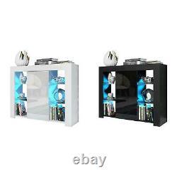 Armoire Latérale High Gloss Moderne Avec Armoire D'affichage Storage Rgb Led Lights