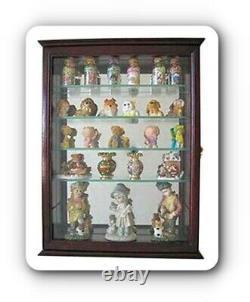 Armoire Murale Curio Display Case Stand Armoire Miroir De Rangement De Porte En Verre