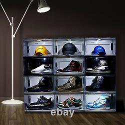 Boîte À Chaussures Led Stackable Light Up Sneaker Display Collection Organisateur De Stockage XL