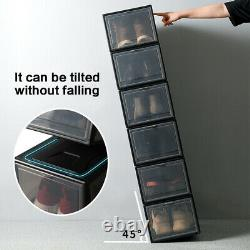 Boîte De Rangement Magnétique 10x Boîte De Rangement En Plastique Transparent À L'avant