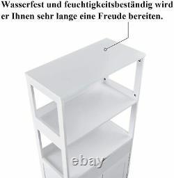 Buffet De Rangement Autoportant Armoire Display Bookshelf Kitchen Pantry Cupboard